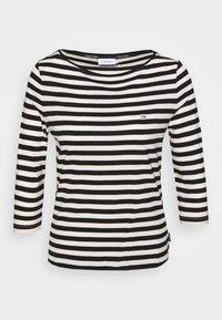 Calvin Klein - SMALL LOGO BOATNECK - Long sleeved top - black/white smoke - 3