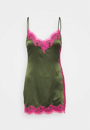 AMELEA - Nightie - khaki/bright pink