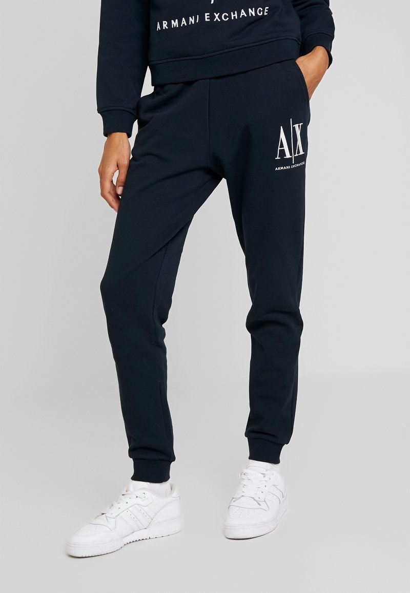 Armani Exchange - PANTALONI - Tracksuit bottoms - navy