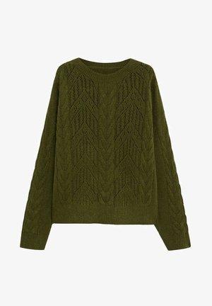 loch - Pullover - grün
