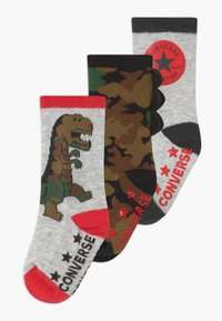 Converse - DINOS INFANT CREW 3 PACK - Socks - lunar rock - 0