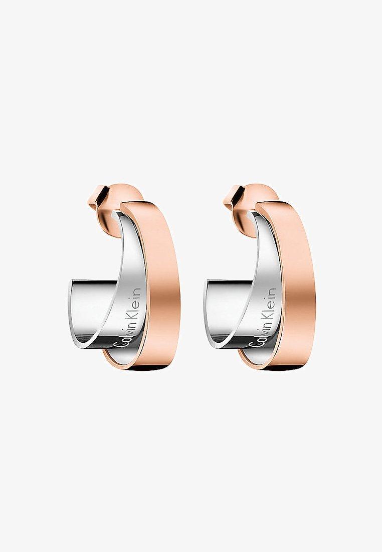 Calvin Klein - UNITE - Earrings - bicolor, silber, rosé