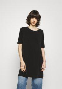 Lindex - TINNA TUNIC - Basic T-shirt - black - 3
