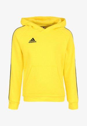 CORE 18 KAPUZENPULLOVER KINDER - Jersey con capucha - yellow