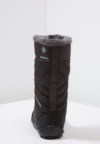 Columbia - YOUTH MINX MID III WP OMNI-HEAT - Winter boots - black/iceberg - 4