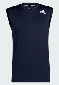 adidas Performance - TECHFIT SLEEVELESS FITTED TANK TOP - Top - blue - 7