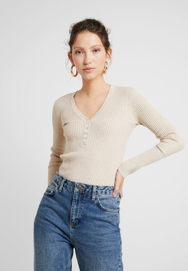 ALESIA JUMPER - Sweter - beige