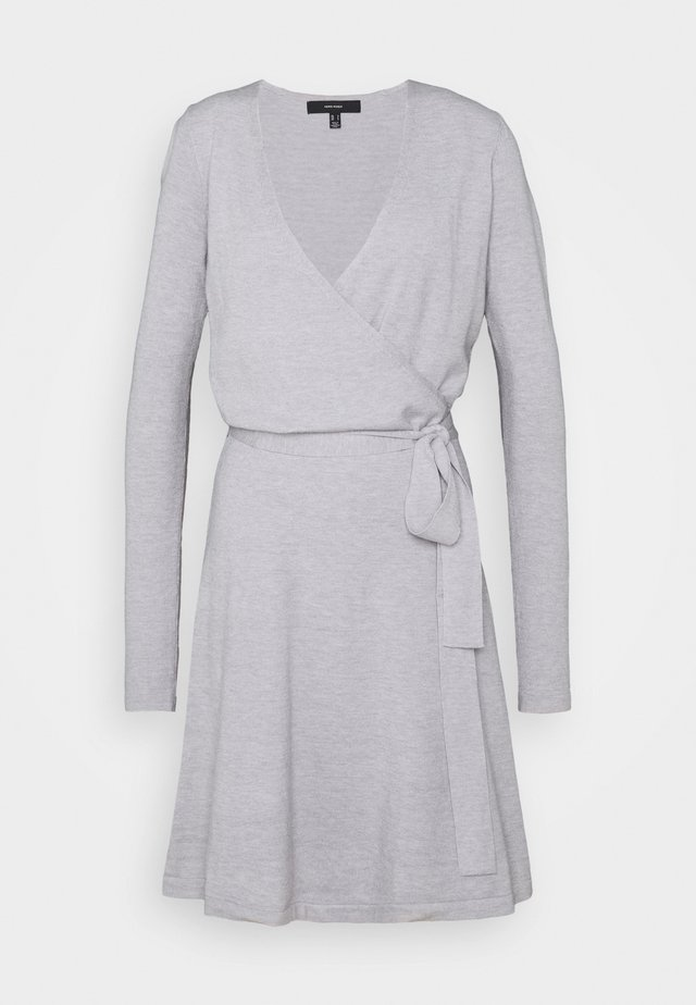 VMKARISARA WRAP DRESS  - Jumper dress - light grey melange
