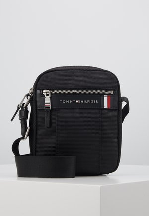 ELEVATED NYLON MINI REPORTER - Across body bag - black