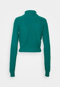 Glamorous Petite - CROPPED JUMPER WITH ROLL NECK AND LONG SLEEVES - Jumper - blue jade - 1