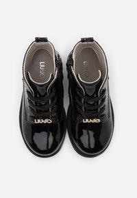 LIU JO - PAT - Šněrovací kotníkové boty - black - 3
