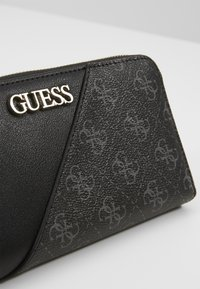 Guess - CAMY LARGE ZIP AROUND - Lommebok - coal - 5