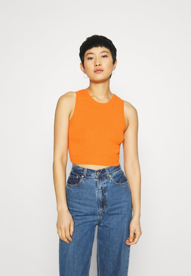 SQUEEZY CROP - Top - papaya