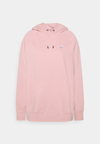 HOODIE PLUS - Jersey con capucha - pink glaze/white