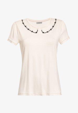FLOWER  - Print T-shirt - creme