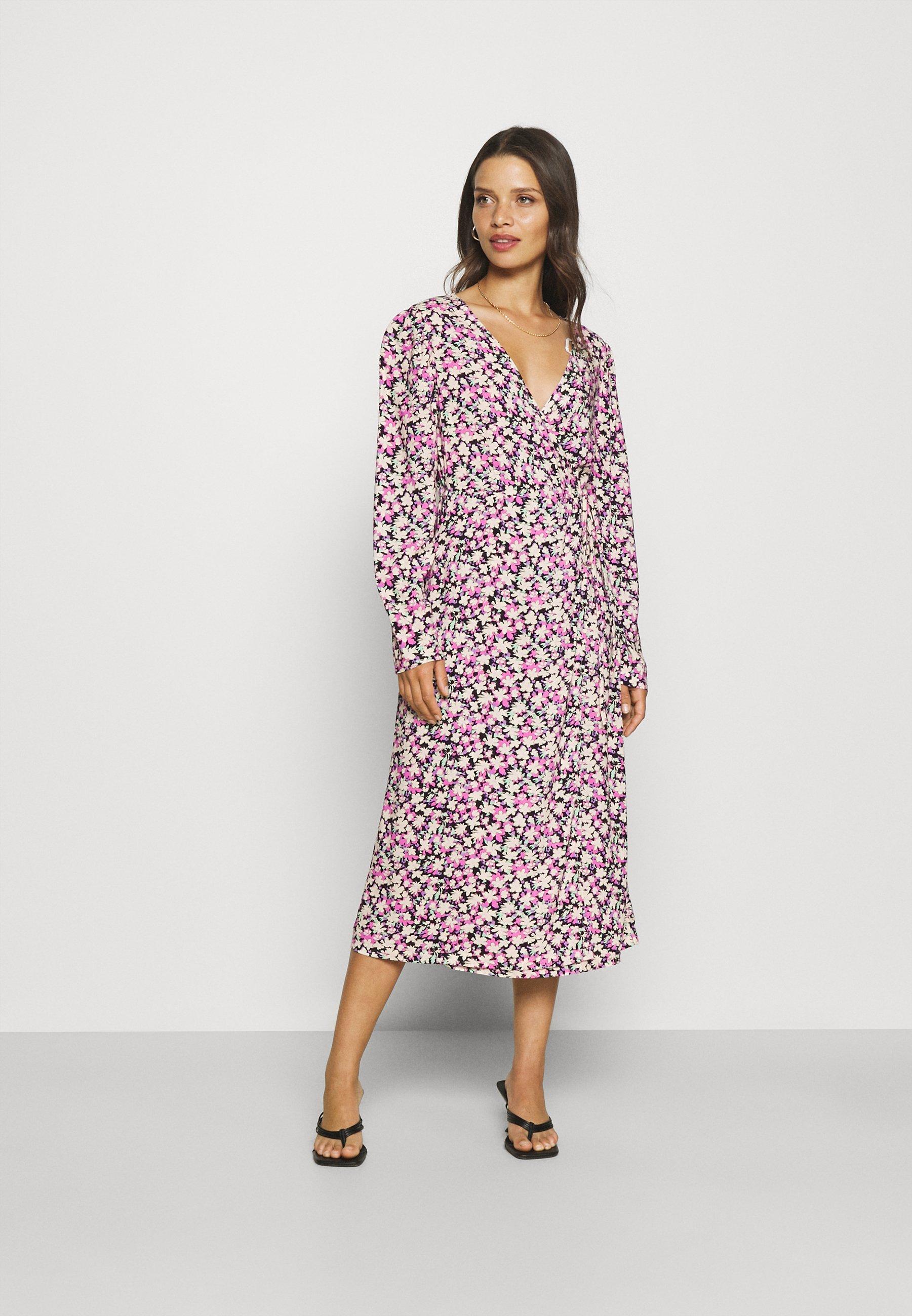 Women PCCARLY WRAP DRESS - Day dress
