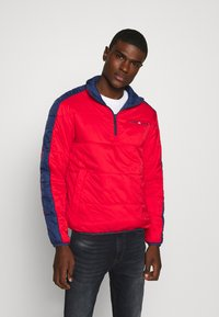 Tommy Jeans - REVERSIBLE RETRO POPOVER - Light jacket - twilight navy - 3
