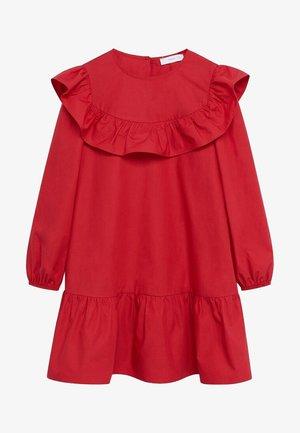 POPLIN - Day dress - rot