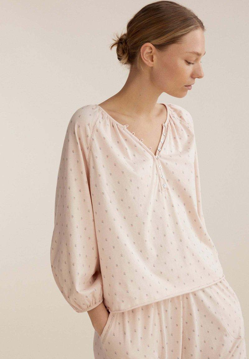 OYSHO - FLORAL  - Pyjama top - rose