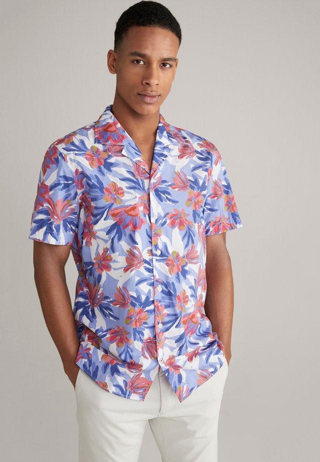 Shirt - blau/rot/weiß gemustert