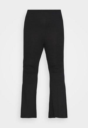 PLUS FLARE TROUSER - Trousers - black