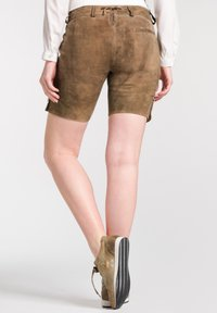Spieth & Wensky - OLIANA - Leather trousers - brown - 1
