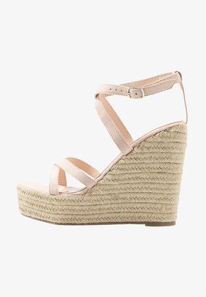 FARRAH - Sandály na vysokém podpatku - nude