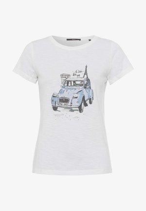 MIT FRONTPRINT - Print T-shirt - offwhite
