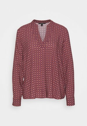 BLOUSE - Blouse - dark red