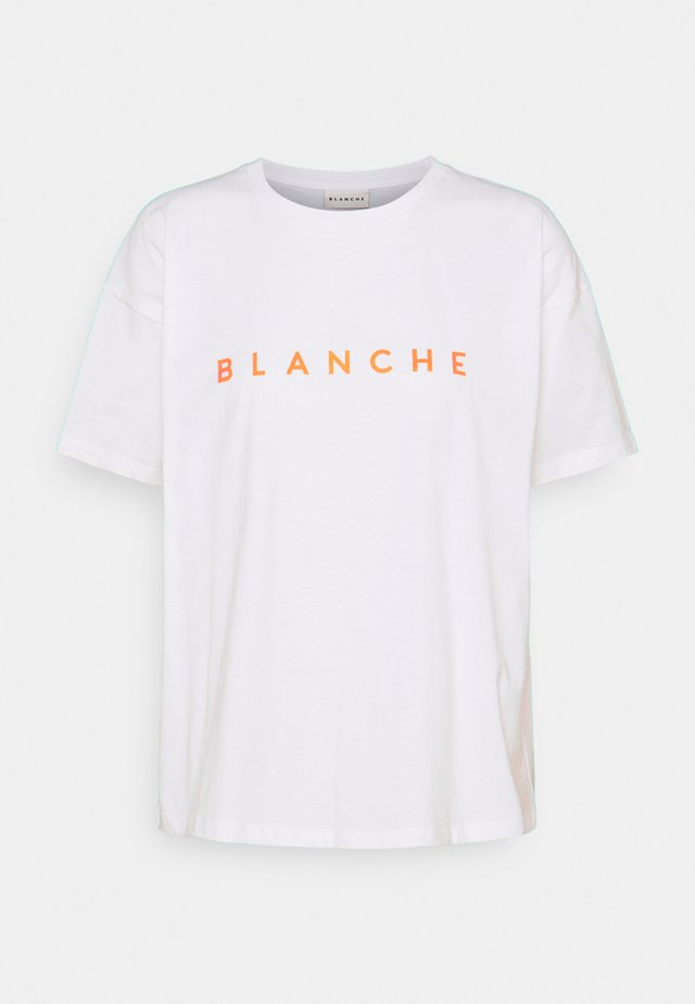 MAIN LIGHT - T-Shirt print - white orange