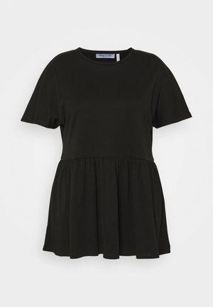 PEPLUM - Jednoduché triko - black