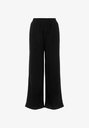 HIGH WAIST SWEATPANTS WEITES BEIN - Trousers - black