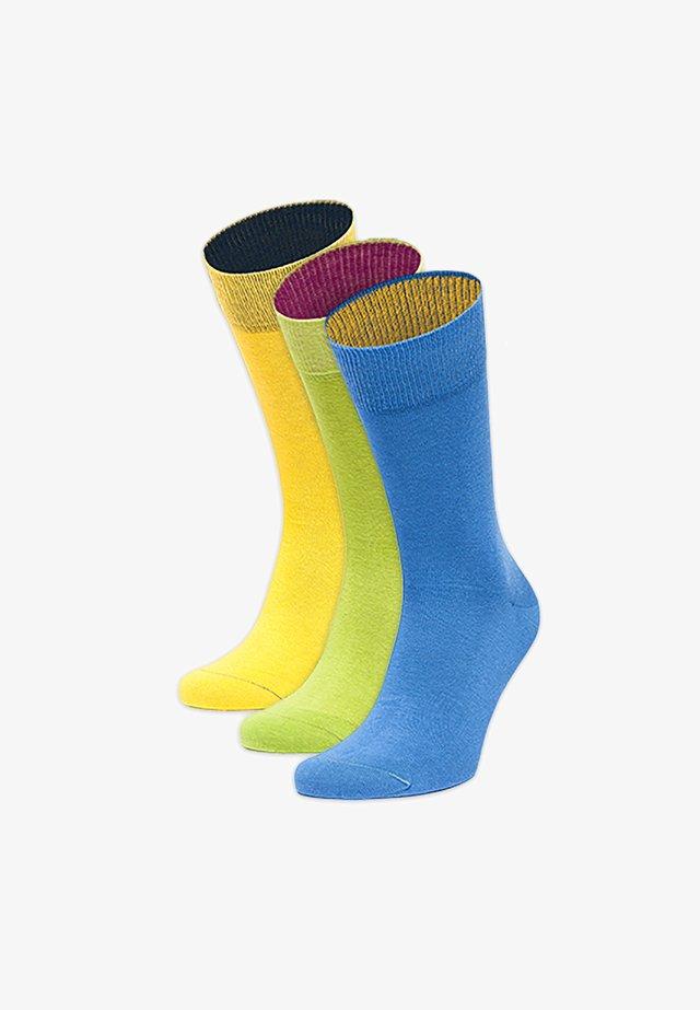 3PACK - Socks - gelb,grün,blau