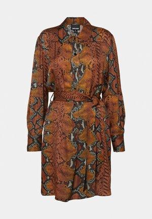 DRESS - Shirt dress - brown