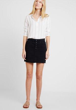 KURZ - Denim skirt - black