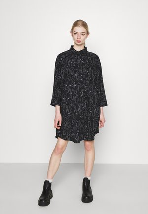 MOA RAGLAN SHIRTDRESS - Shirt dress - black