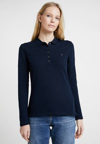 Tommy Hilfiger - HERITAGE LONG SLEEVE SLIM  - Polo shirt - midnight - 0