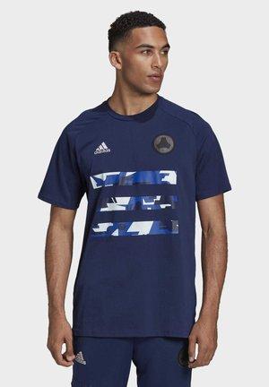TEE - Print T-shirt - navblu