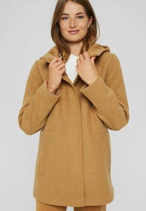 REGULAR FIT - Short coat - camel