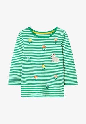 Long sleeved top - baumgrün/naturweiß, gänseblümchen