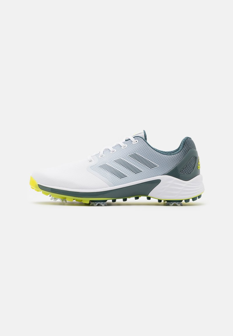 adidas Golf - Golfové boty - footwear white/acid yellow/blue