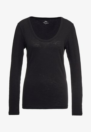 WHISPER SCOOP NECK - Long sleeved top - black