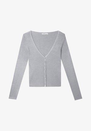 MIT KNÖPFEN - Kofta - dark grey