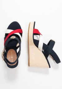 Tommy Hilfiger - ELENA - High heeled sandals - red/white/blue - 3