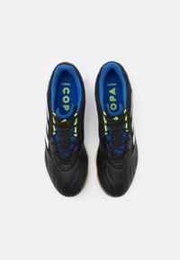 adidas Performance - COPA SENSE.3 IN SALA - Indoor football boots - core black/footwear white/solar yellow - 3