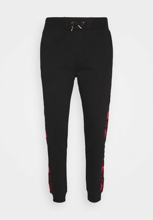 GALVEZ JOGGER - Tracksuit bottoms - black /red