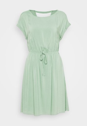 OVERCUT SHOULDER DRESS - Denní šaty - dust green
