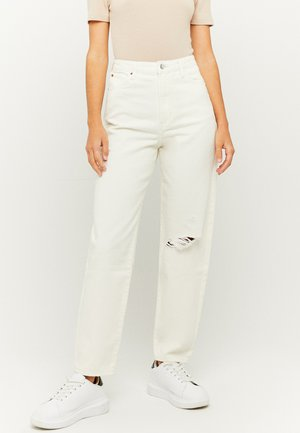 HIGH WAIST MOM - Relaxed fit jeans - white