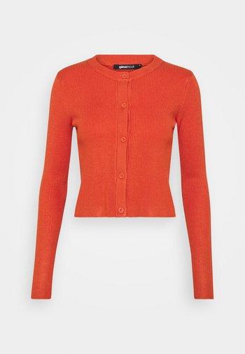 TINA - Cardigan - orange rust