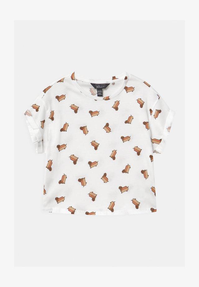 HOTDOG CONVERSATIONAL - T-shirt z nadrukiem - white